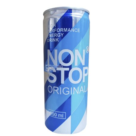 Non Stop, Original, 0,25 л, Напиток энергетический Нон Стоп