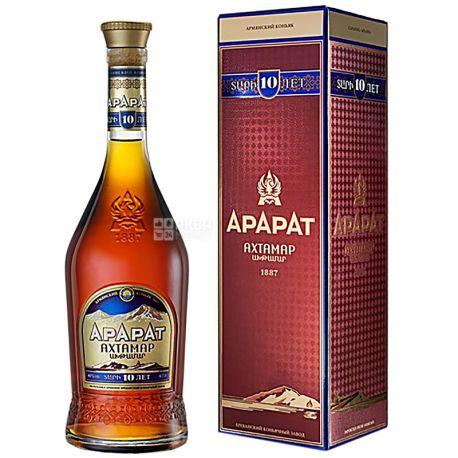 Ararat Ахтамар коньяк 10лет выдержки, 0,7 л, стеклянная бутылка, подарочная коробка