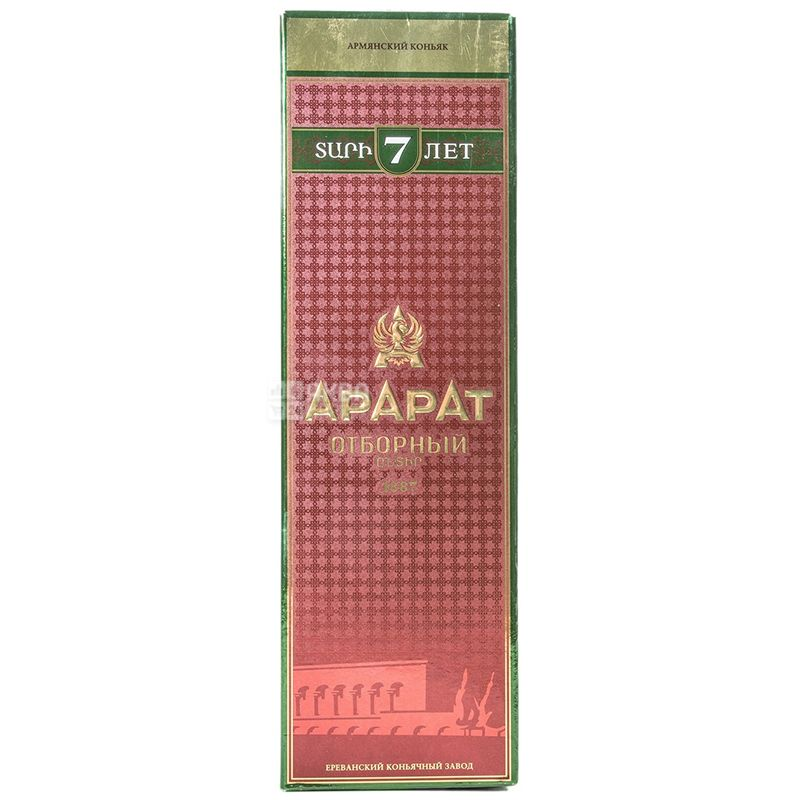 Ararat Отборный коньяк 7лет выдержки, 0,7 л, стеклянная бутылка, подарочная коробка