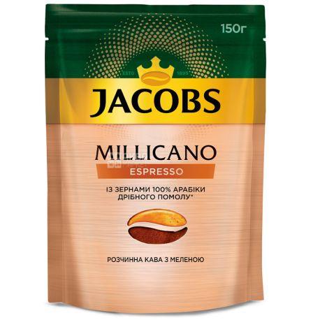 Jacobs, 150 г, кофе, растворимый, Millicano Espresso, м/у
