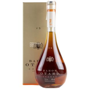 Baron Otard VS cognac, 3 years aging, 0.7 l, glass bottle, gift box