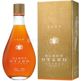 Baron Otard VSOP коньяк, 4 года выдержка, 0,7л, стеклянная бутылка, подарочная коробка