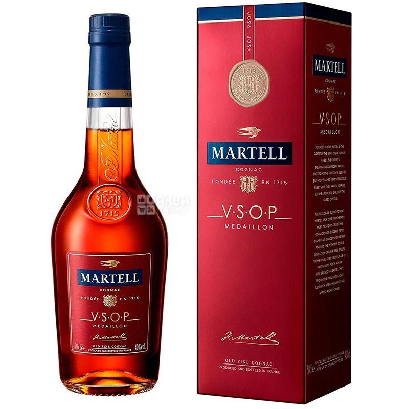 Martell Коньяк, VSOP Medallion, 0,5 л, Коробка