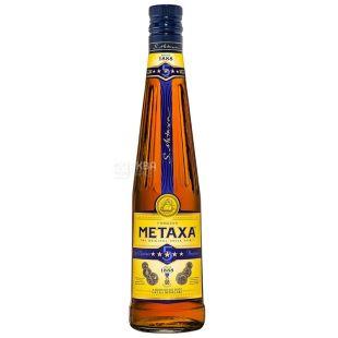 Metaxa 5 Star, Brandy, 0.5 L, Glass Bottle