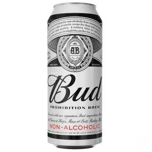 Bud Prohibition Brew, пиво світле безалкогольне, 0,5 л, з/б