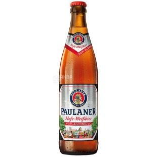 Paulaner, пиво нефільтроване безалкогольне, 0,5 л, скло