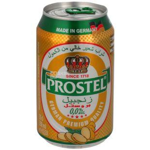 Prostel Ginger, пиво безалкогольне фруктове, 0,33 л, з/б