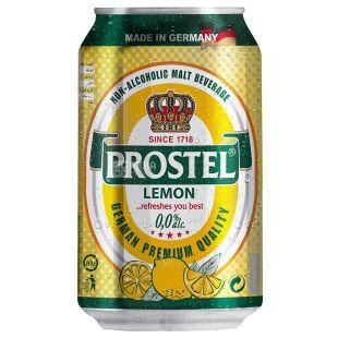 Prostel Lemon, пиво безалкогольне фруктове, 0,33 л, ж/б