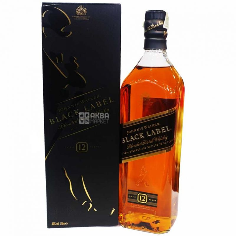 Johnnie Walker Black Label Виски, 1л