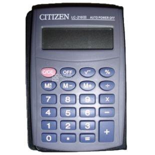 Citizen LC-210III Калькулятор карманный восьмиразрядный, картонная коробка