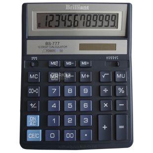 Brilliant BS-777BL Калькулятор настільний 12-розрядний, картонна коробка