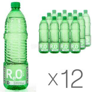ReO, 0,95 л, Упаковка 12 шт., РЕО, Вода слабогазированная для улучшения обмена веществ, ПЭТ