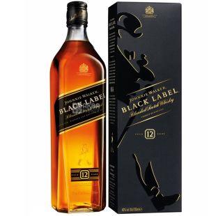 Johnnie Walker Black Label Виски, 0.7л