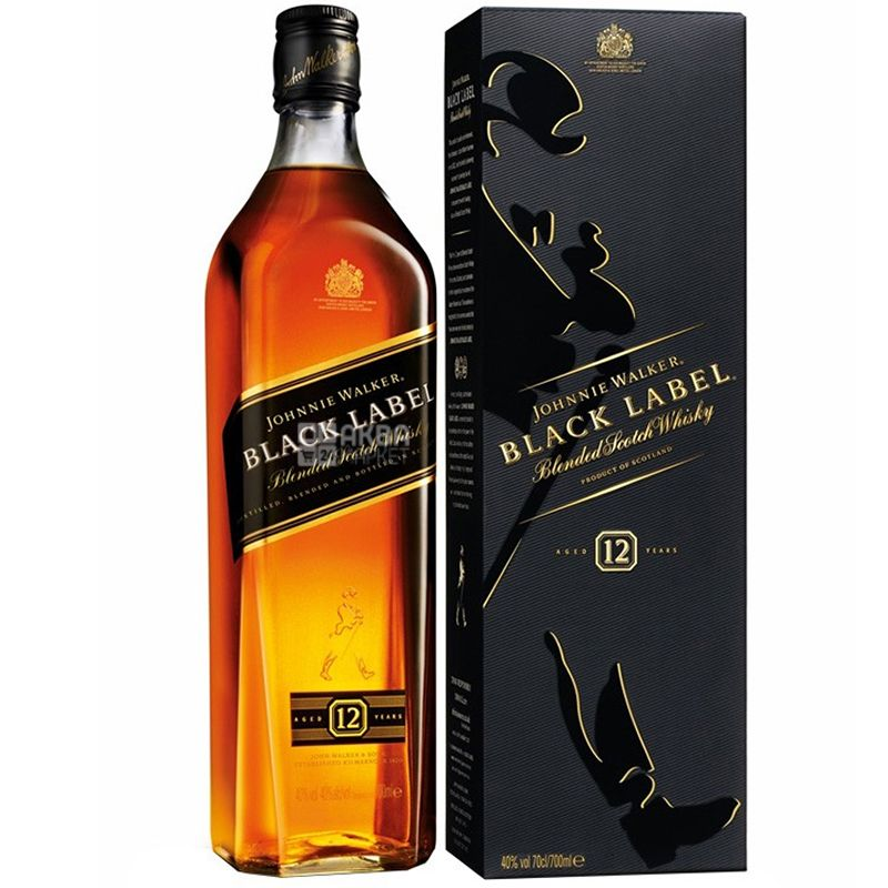Johnnie Walker Black Label Виски, 0.7л