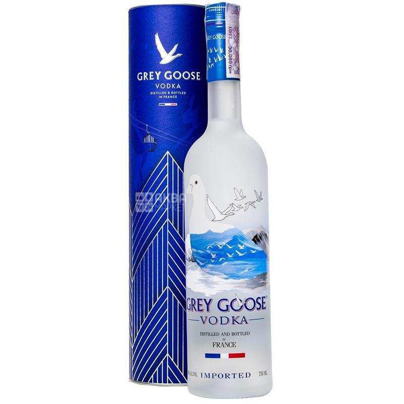 Grey Goose, Горілка, 40%, 0,75 л, у подарунковій коробці