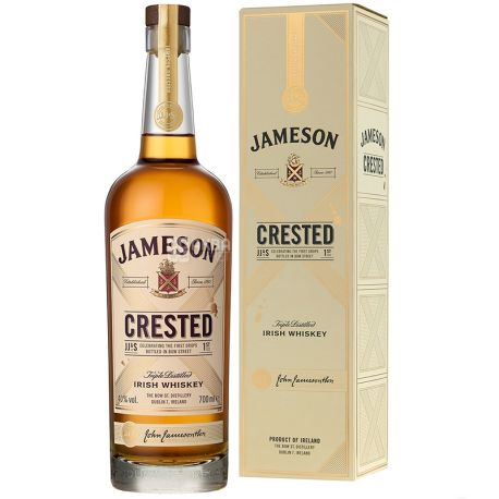 Jameson Crested Виски, 0.7л,  подарочная упаковка