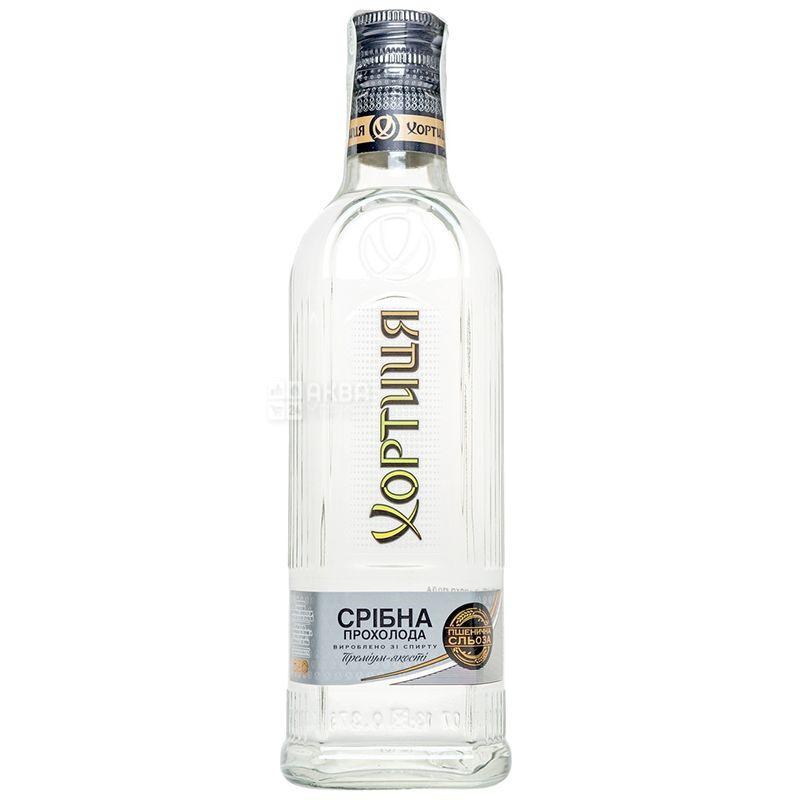 Хортиця Срібна прохолода, Горілка, 40%, 0,375 л