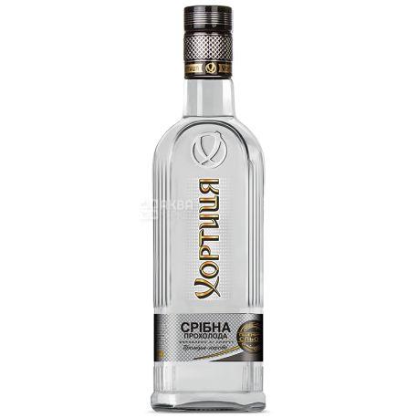 Хортиця Срібна прохолода, Горілка, 40%, 0,5 л