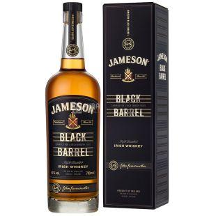 Jameson Black Barrel Whiskey, 0.7l, glass, gift wrap