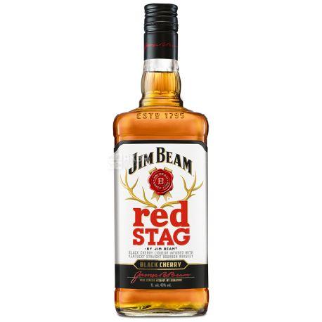 Jim Beam Red Stag Black Cherry, Бурбон, 1 л