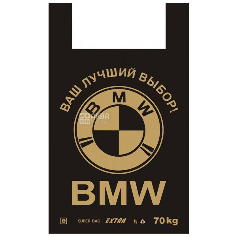 Пакет поліетиленовий майка BMW, 40х60 см, 50 шт, пакет