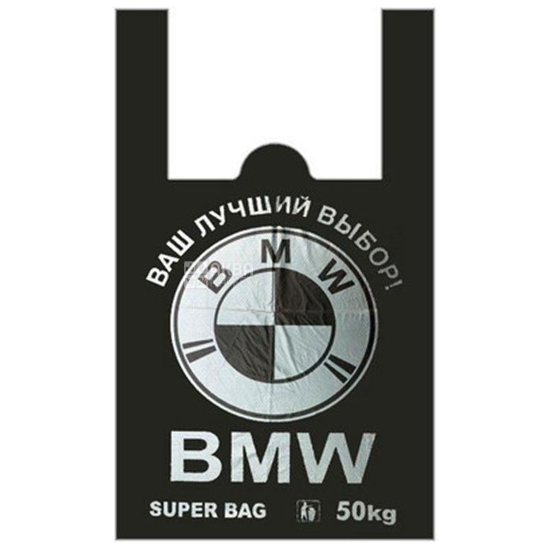 Пакет поліетиленовий майка BMW, 43х70 см, 50 шт, пакет