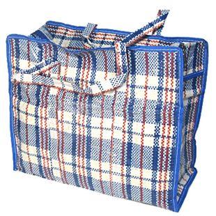 Polypropylene checkered shopping bag 105x60x30 cm