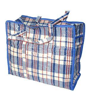 Polypropylene checkered shopping bag 70 * 60 * 30 cm