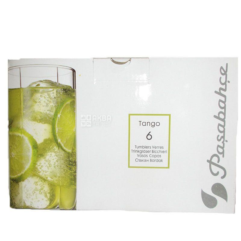 Pasabache, 6 шт., 315 мл, набор стаканов, Tango, стекло