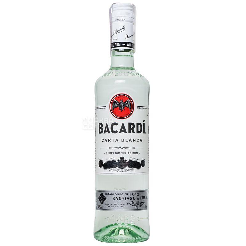Bacardi Carta Blanca, Ром белый, от 6 месяцев выдержки, 0,7 л