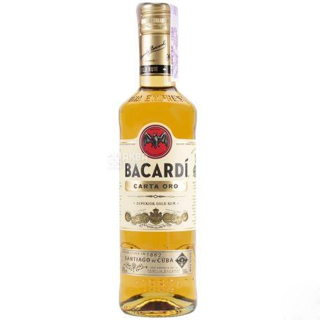 Bacardi Carta Oro, Ром, від 2 років витримки, 0,5 л