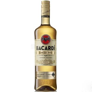 Bacardi Carta Oro, Ром, от 2 лет выдержки, 1 л