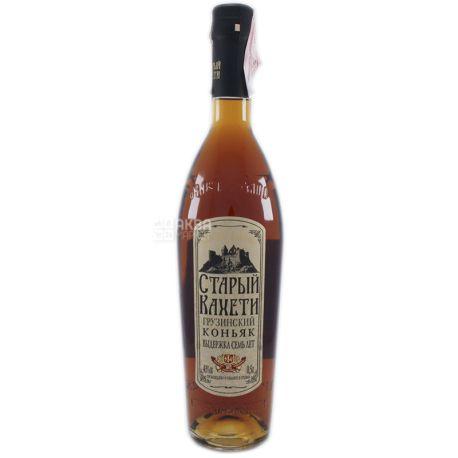 Старый Кахети Коньяк, 7 лет выдержки, 0,5 л, Стеклянная бутылка