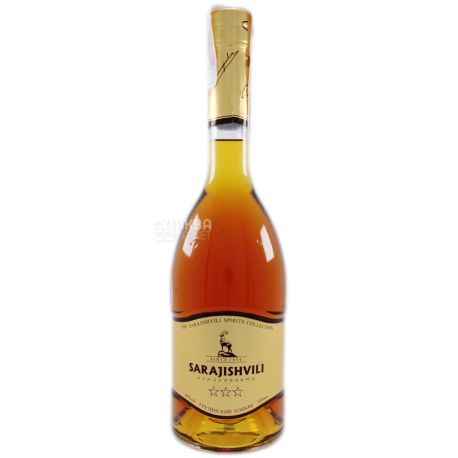Sarajishvili Cognac, 5 stars, 0.5 l, Glass bottle