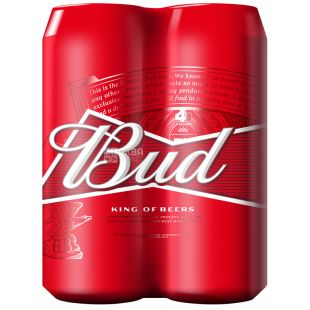 Bud, beer light, promopak 4 * 0,5 l, w / w