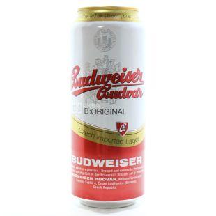 Budweiser, пиво светлое, 0,5 л, ж/б