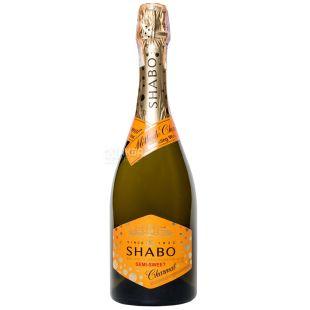 Shabo sparkling white semi-sweet white wine, 0.75 l