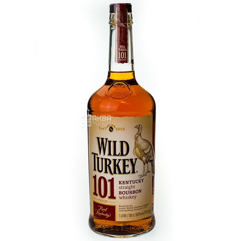 Wild Turkey 101 Bourbon, 1 L