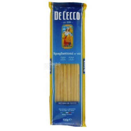De Cecco Spaghettoni №412, 500 г,  Макароны Де Чекко Спагеттони