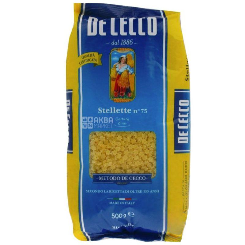 De Cecco Stellette №75, 500 г, Макароны Де Чекко Стеллетте