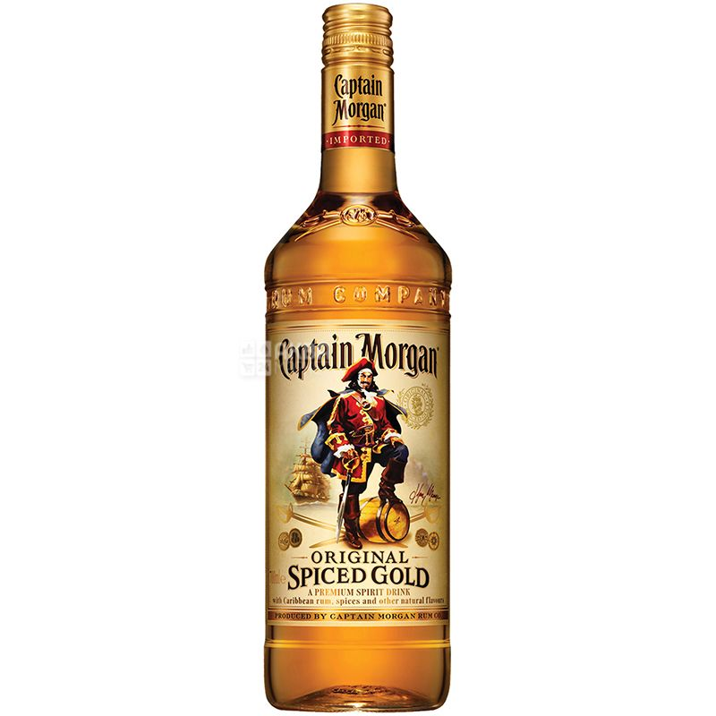 Captain Morgan Spiced Gold, Ром золотой, 1 л
