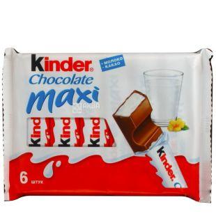 Kinder Chocolate Maxi, Батончик шоколадно-молочний, 6 шт. по 21 г, м/у