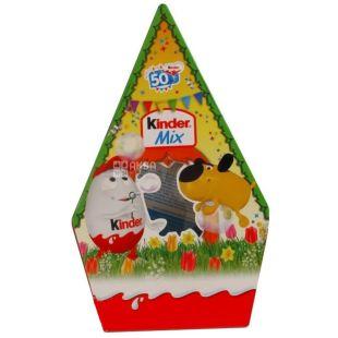 Kinder Mix Будиночок, Набір цукерок новорічний, 199,5 г, картон