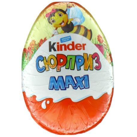 Kinder Сюрприз Maxi, Яйцо шоколадное, 100 г, м/у