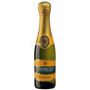 Toso Prosecco вино белое игристое сухое, 0,2 л