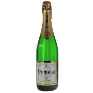 Артемовское Вино игристое, Белое полусладкое 0,75 л, Стеклянная бутылка