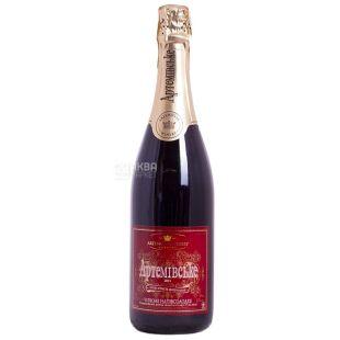 Артемовское Вино игристое, Красное полусладкое 0,75 л, Стеклянная бутылка