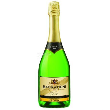 Bagrationi Вино игристое, Белое полусладкое 0,75 л