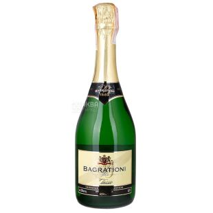 Bagrationi Вино игристое, Белое брют, 0,75 л, Стеклянная бутылка