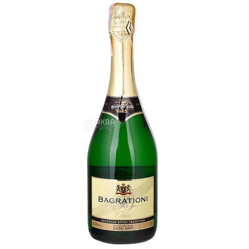 Bagrationi, Semi Dry, Вино игристое белое полусухое 0,75 л